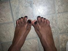 Milani - Black Swift nail polish (hyellow) Tags: black cute feet foot toes pretty nail polish pedicure elegant