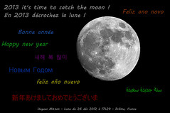 2013 year to catch the moon ! (hugues mitton) Tags: france lune ciel 100views 200views nuit happynewyear drme bonneanne