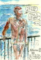 Andalousie - Balcon de l'Europe (Nerja) (croquisdenico) Tags: sketch europe alfonso drawing sketchbook dessin balcon nerja andalousie croquis carnetdevoyage