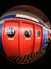 Entering Studio 7: Armageddon (CoasterMadMatt) Tags: winter fish paris eye lens effects photography photos euro disneyland january disney resort fisheye special attachment photographs armageddon studios walt eurodisney fisheyelens effets disneylandresortparis studio7 waltdisneystudios marnelavallée 2013 speciaux armageddonleseffetsspeciaux coastermadmatt uploaded:by=flickrmobile flickriosapp:filter=nofilter