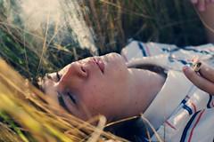 Heat (Gerda Ros) Tags: boy summer hot grass warm smoking heat cigarettes gerdaros