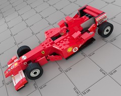 LEGO Ferrari Racer - VRay Render (Zugas) Tags: red car digital toy 3d model lego maya render autodesk ferrari blocks cgi racer vray
