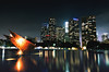 Week 5/52- LA Skyline *Explored* (EMIV) Tags: water skyline canon la los long exposure downtown angeles mark ii 5d department 24l 5d2