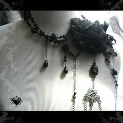 Gothic Spiderweb Rosary Necklace - Southern Gothic (sugarpunk) Tags: etsy gothic gothiclolita beauty black lace sugarpunk roses