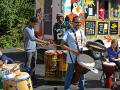 Street fair 'drum-around' (mmolinger) Tags: drums percussion streetfair latin rhythm congas jambe