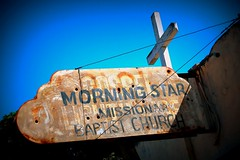 shining star… (woodwork's) Tags: shiningstar themanhattans morningstar missionarybaptistchurch rustneversleeps stocktonca signporn