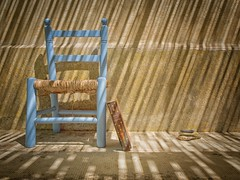 Still life with chair and book II (ParadoX_Design) Tags: still life chair book old vintage blue sun shadow pascal pensees