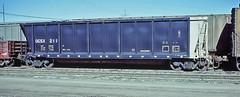OGSX 211 all steel bathtub coal gondola-Denver, Colorado (Wheatking2011) Tags: ogsx all steel bathtub coal gondola iowa southern utilities company rio grande north yard denver colorado photographed may 1981