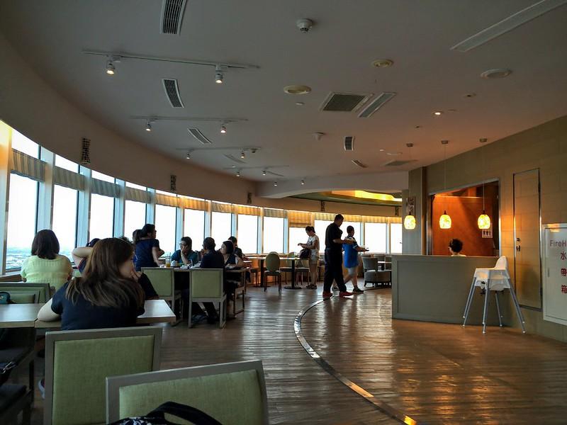 餐廳旋轉地板