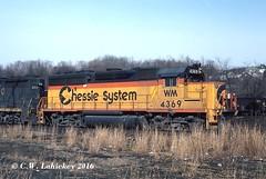 WM 4369 on 3-23-80 (C.W. Lahickey) Tags: wm emd gp402 connellsville