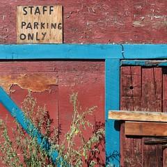 staffparkingonly (nolando) Tags: nolando 2016 simple canon digital square crop bright colour staff parking kootenays