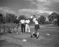 Fore!!!! (Queensland State Archives) Tags: queensland qsa shorts fashion men man archives golf tee club hats fore