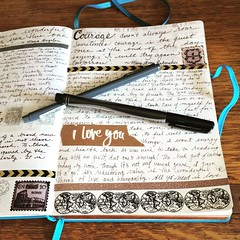 August 18, 2016. Visual journaling. (Kathryn Zbrzezny) Tags: visualjournal visualdiary journal journaling journalwriting write writing handwritten handwriting leuchtturm1917
