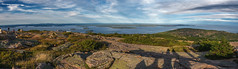 Panoramic View from Cadillac Mountain (Bar Harbor, Maine) (*Ken Lane*) Tags: geo:lat=4435265456 geo:lon=6822292775 geotagged ottercreek unitedstates usa acadia acadianationalpark barharbor barharbormaine cadillacmountain eastcoast hancockcounty hancockcountymaine harbor horizon lookout maine mdi mountdesertisland mountain mountainview nationalpark nature nikon northeastatlantic northeastunitedstates northeasternunitedstates observationpoint ocean overlook panoramicview photoshoppanorama rockface scenicoverlook scenicview sea sightseeing stitchedimage touristattraction travel travelphotography