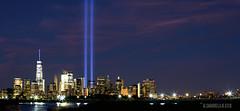 Tribute In Light - September 11, 2016 (Al Camardella Jr.) Tags: manhattan newyorkcity tributeinlights worldtradecenter nyc 15th anniversary longexposure freedom tower freedomtower libertystatepark 15thanniversary september11 brooklynbridge newyorkharbor