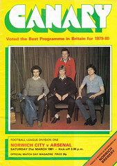Norwich City vs Arsenal - 1981 - Cover Page (The Sky Strikers) Tags: norwich city arsenal football league division one carrow road official match day magazine 30p