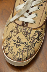 Harry Potter Shoes (5) (Chris Gent) Tags: harrypotter maraudersmap hogwartsschoolofwitchcraftandwizardry shoes magical document remuslupin moony peterpettigrew wormtail siriusblack padfoot jamespotter prongs