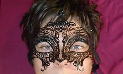 Mask (Lgendes Lorraines) Tags: black mask masque dentelle noire yeux bleus bleu blue eye eyes visage face dark beauty gothic