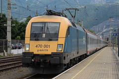 MAV 470001 IS SEEN ARRIVING AT GOLLING ABTENAU ON 28 JUNE 2013 EN ROUTE TO SALZBURG (47413PART2) Tags: mav 470001