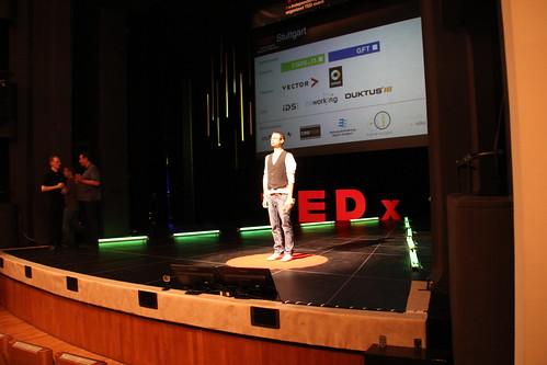 Vor dem Auftritt - Fabian fühlt den TEDx-Spirit