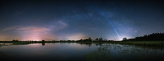 Panoramic Milky Way Grafschaft Bentheim (MartinFechtner-Photography) Tags: sky lake water night lights stars long exposure meadow milky way index nacht photography light pollution wiese flooded nightscape sterne nordhorn milchstrase canon eos 6d berflutet lichtverschmutzung renaturierung grafschaft bentheim tamron 1530mm syen venn