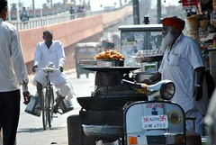 Street vendor swastikas, Jaipur (CultureWise) Tags: india swastika symbols