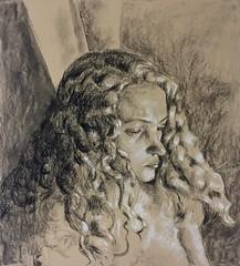 autorretrato (lauramurillom) Tags: selfportrait woman mujer carboncillo pastel charcoal autorretrato retrato portrait drawing dibujo disegno dessin