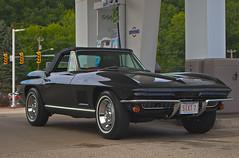 A 1967 Corvette Convertible (macnetdaemon) Tags: outdoor car corvette convertible mint condition beautiful black sportscar great shot