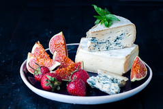 blue cheese and sweet fruit figs (lyule4ik) Tags: snack dairy cheese fruit ingredient fresh blue gorgonzola roquefort french stilton picnic swiss meal slice spice board soft plate sweet gourmet traditional piece delicious ripefigsfood violet tasty healthy delicatessen appetizer cuisine eating product ripe nobody white fig wooden food breakfast ripened lunch brie rural camembert part softness portion ricotta closeup