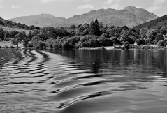 Tarbet from the Loch Lomond Ferry (brightondj - getting the most from a cheap compact) Tags: lochlomond scotland ferry water loch scotlandaugust2016 reflection bw ripples mountain trossachs thetrossachs summer2016 holiday summerholiday uk britain ukholiday
