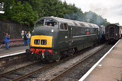 """D832 """"ONSLAUGHT"""" leaves Bury for Heywood (colin9007) Tags: east lancashire railway diesel gala wr hydraulic maybach br swindon warship class 42 d832 onslaught"""