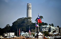 Coit Tower from Chinatown, San Francisco 072 (longbachnguyen) Tags: chinatown sanfrancisco coittower california usa grantave