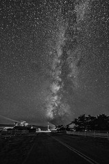 Milky Way over one of the dairy farms at Point Reyes.