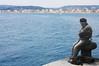 La llegenda del pescador / The fisherman's legend (miquelopezgarcia) Tags: mar sea mediterranean mediterrani port aigua water agua palamos firamediterrania boat vaixells costabrava coast catalunya catalonia platges beach day dia març 2014 canon demataro miquellopez teenagephotographers eos 450d canon450d blue blau pescador fisherman boina