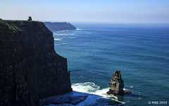 O'Briens Tower, Cliffs of Moher, Co. Clare (Mick @ MBE) Tags: 2015 mbe obrienstower cliffsofmoher coclare cliffs clare ireland west moher spring sea panorama vista cliff shore ocean atlantic rock stack
