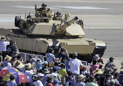 Waving to the Crowd (dcnelson1898) Tags: california sandiego marinecorpsairstationmiramar marinecorps marines 2016mcasmiramarairshow demonstration magtf jets helicopters military tanks armor m1a1abrams mainbattletank