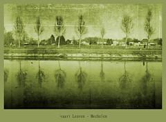 """vaart Leuven - Mechelen 49/52 """"texture"""" (Raf Degeest Photography) Tags: reflection texture manipulated canon surreal 2012 week49 sliderssunday 522012 52weeksthe2012edition weekofdecember2"""