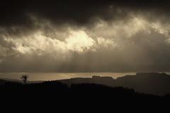 the line (Steph Blin) Tags: sky bw clouds landscape nb ciel nuages paysage auvergne ligne