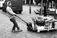 (-samu-) Tags: china street city uk people bw italy food white man black london water japan work canon photography 50mm town workers nikon strada fuji bokeh g sony 14 mens ph afs