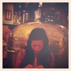 There's a giant baked potato behind me. (piperaudrey) Tags: me square sierra squareformat houseofprimerib iphoneography instagramapp uploaded:by=instagram foursquare:venue=42e03700f964a52065261fe3