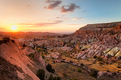 Cappadocia - Golden Rose Valley (John & Tina Reid) Tags: sunset summer turkey nationalpark cappadocia goreme goldenlight rosevalley unescosite jonreid naturalattraction tinareid geologicalattraction nomadicvisioncom