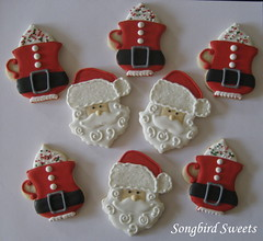 Santa Faces & Santa Hot Chocolate Mugs (Songbird Sweets) Tags: santa christmas mugs sugarcookies christmascookies songbirdsweets