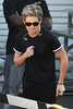 Niall Horan One Direction seen having lunch and exchange gifts outside the CBS Studios, before the taping of the 'X Factor' finale. Los Angeles, California- 20.12.12 JP