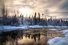 _MAD5983 (le Brooklands) Tags: winter sky snow water nikon eau labrador hiver ciel brook neige nl sigma1224mm hdr ruisseau translabradorhighway route500 d7000