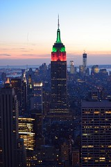 New York City and Empire State Building [0353] (cl.lin) Tags: newyorkcity sunset newyork night nikon cityscape manhattan worldtradecenter rockefellercenter empire empirestatebuilding rockefeller topoftherock d600