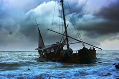 Rgen (sylvia-mnchen) Tags: sea germany deutschland boat buchenwald meer europa europe natur moor rgen schiff wellen sturm mecklenburgvorpommern norddeutschland gestrandet