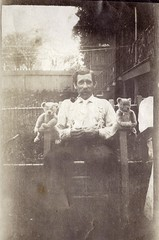 Man with pipe and his teddy bears (paws22) Tags: man snapshot pipe smoking smoker teddybears pipesmoker
