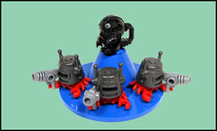 Scorpeeo and his crab guard (Karf Oohlu) Tags: lego helmet crab scorpion vignette moc