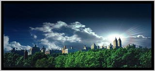 Manhattan ~ New York City ~ Looking West ~ Old Film