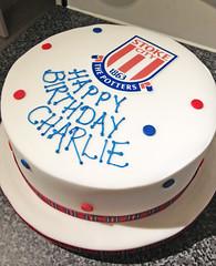 Stoke City Footballer Cake